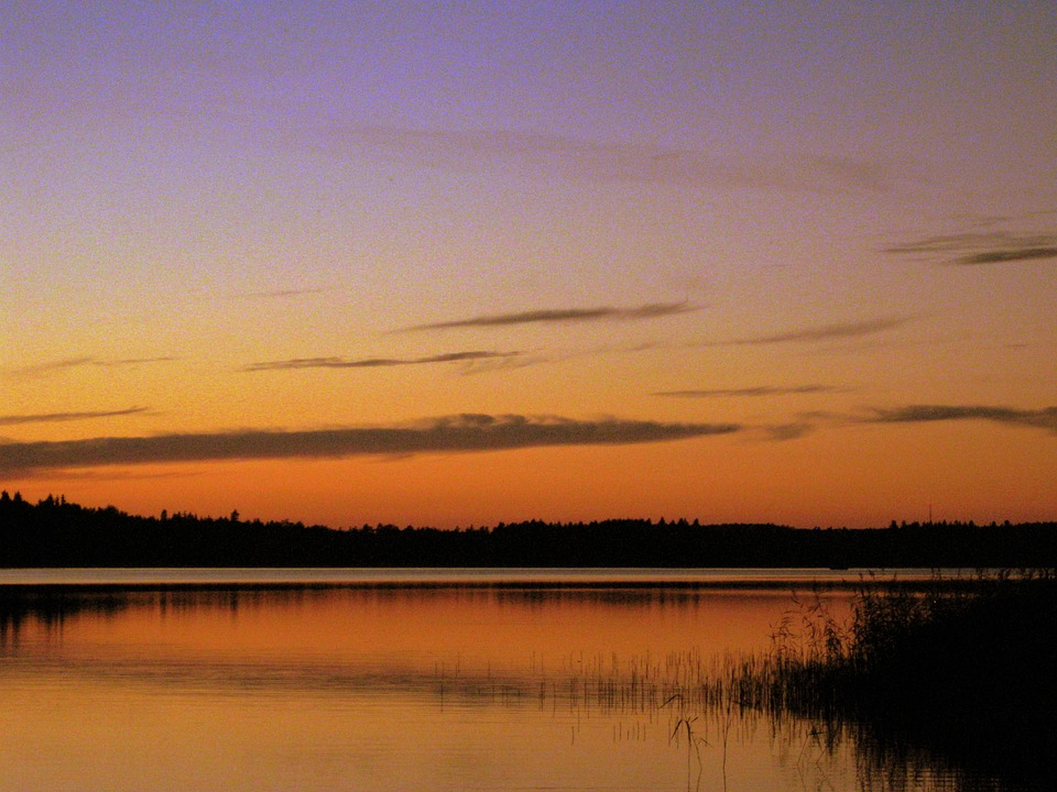 Lake, Sweden, Evening, Abendstimmung, Afterglow, Nature