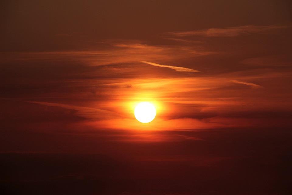 Sunset, Sun, Abendstimmung, Setting Sun, Afterglow, Sky
