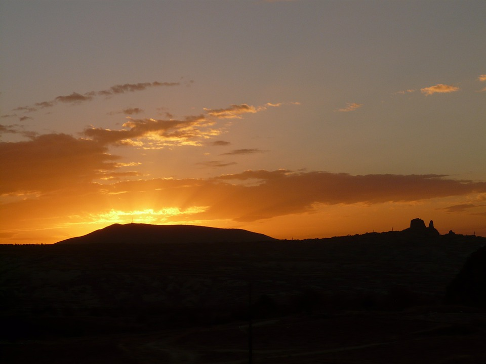 Sunset, Sun, Golden, Mood, Sunbeam, Abendstimmung, Sky