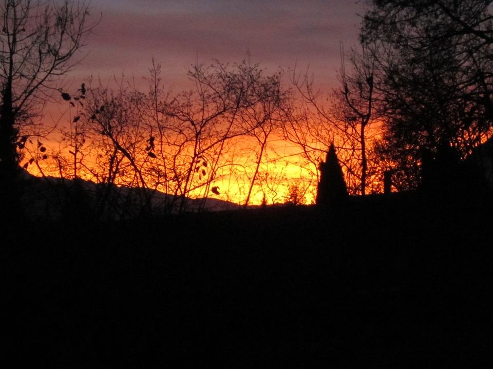 Afterglow, Ennstal, Abendstimmung, Sunset, Styria