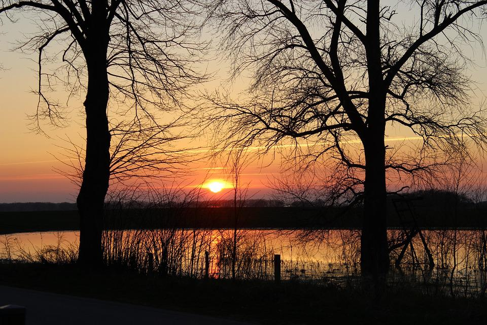 Sunset, Abendstimmung, Romantic, Evening Sky