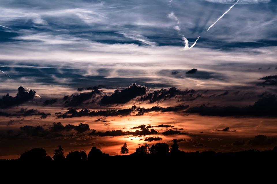 Sunset, Setting Sun, Evening Sky, Abendstimmung, Sky