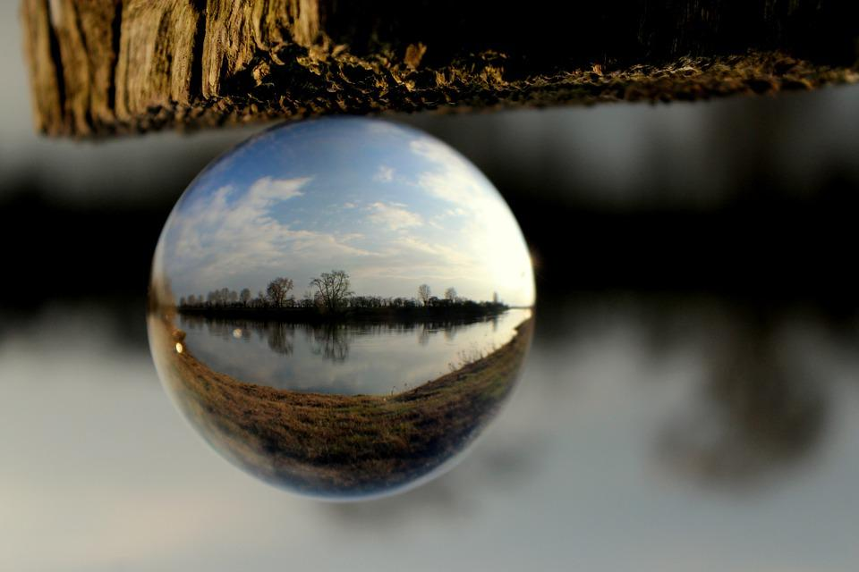 Ball, Nature, River, Weser, Glass Ball, Glass, About