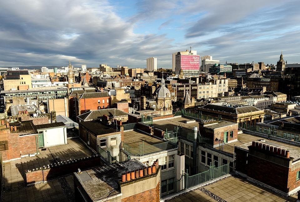Glasgow, Scotland, City, Tourism, Above The City, Roofs