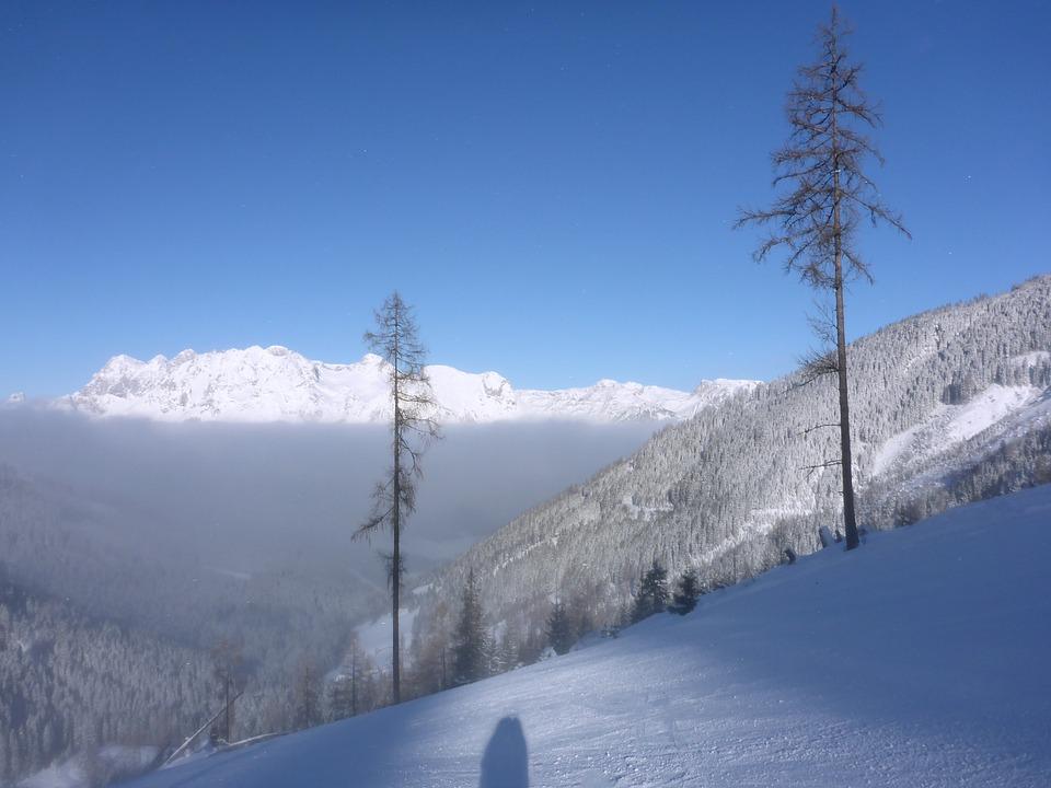 Ski Run, Fog, Above The Clouds, Black, Departure