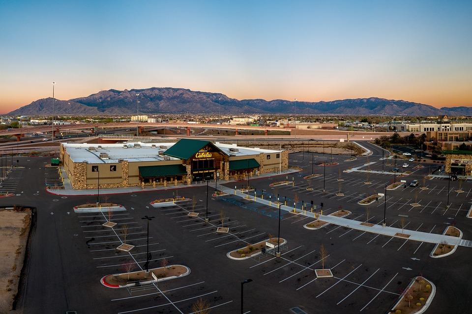 Albuquerque, New Mexico, Abq, Cabelas, Aerial, Sandias