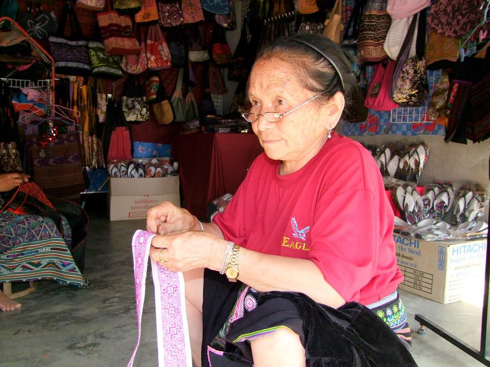 Woman, Thailand, Sewing, Shop, Market, Abroad