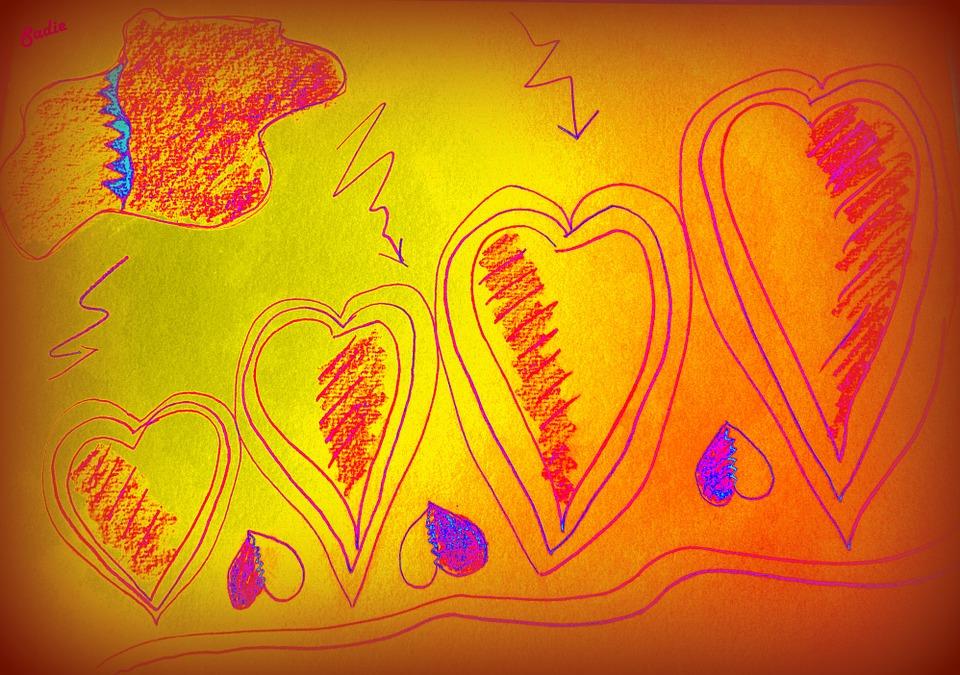 Heart, Romantic, Art, Abstract