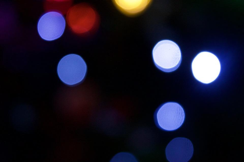 Bokeh, Abstract, Background, Blur, Black Abstract