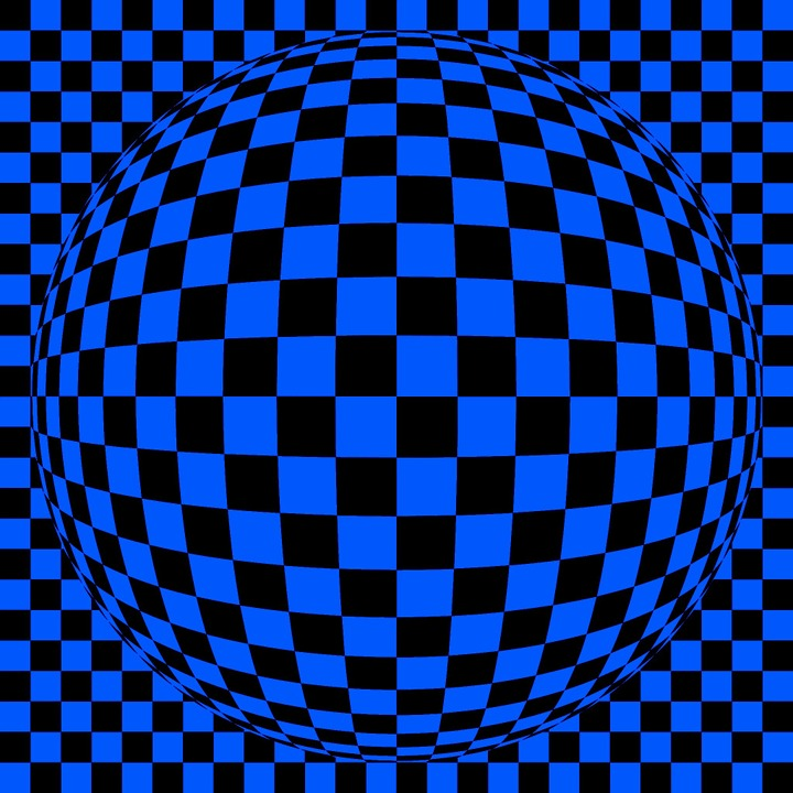 Background Image, Abstract, Blue, Black, Squares, Ball