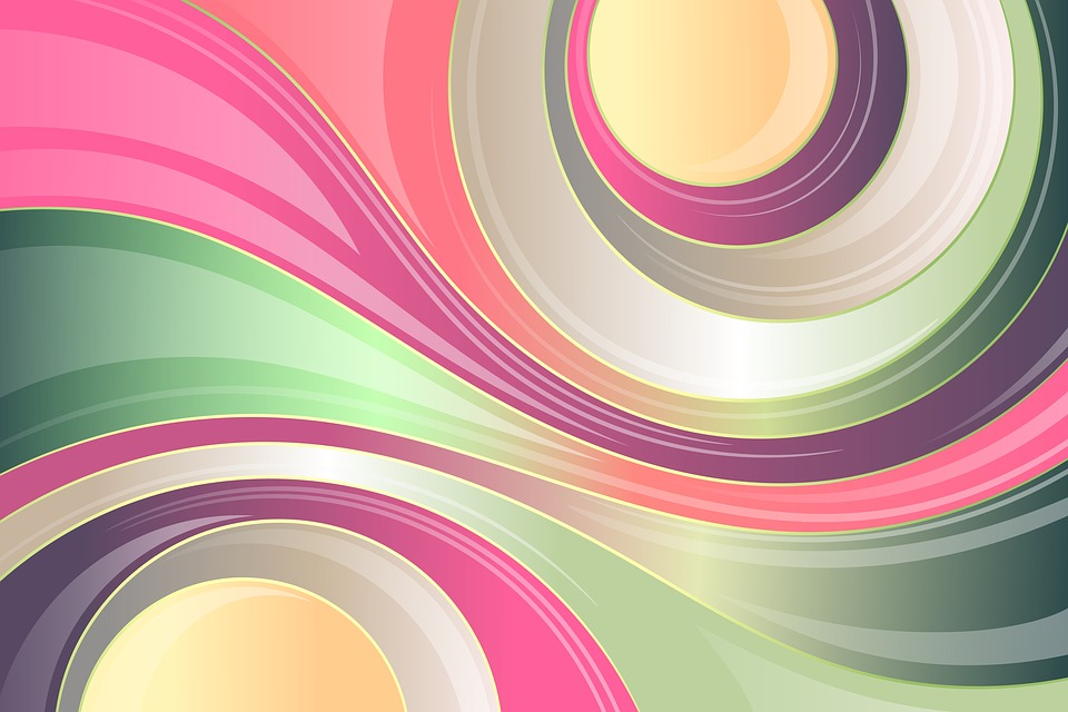 Abstract, Colorful, Background, Wavy, Lines, Gloss