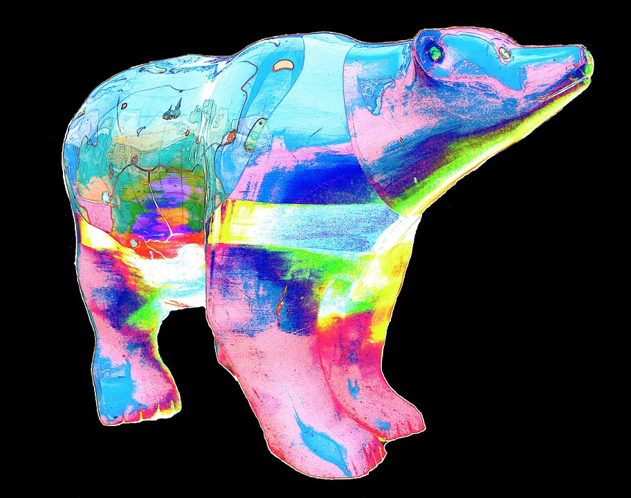 Bear, Colorful, Abstract, Creative