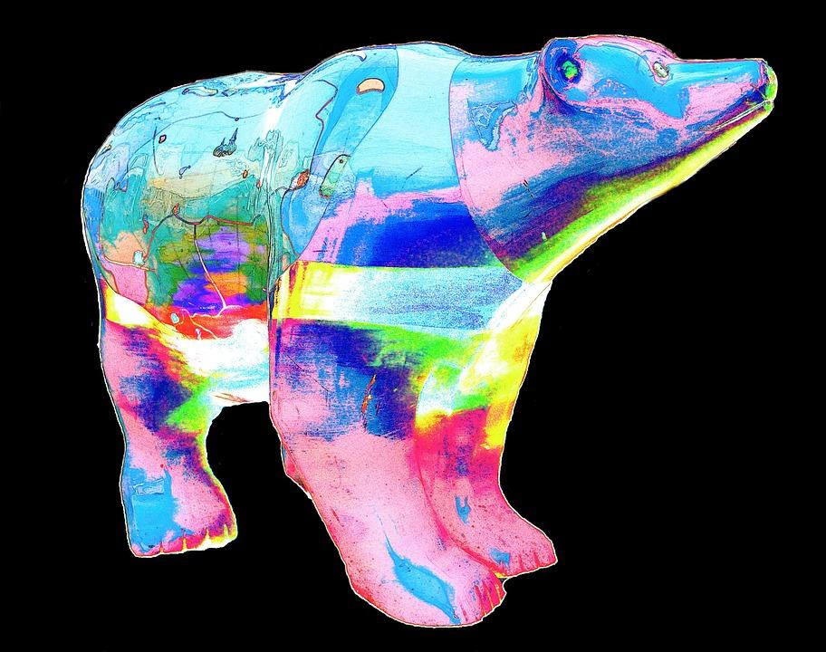 Bear, Colorful, Abstract, Creative