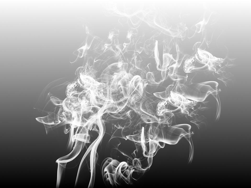 Smoke, Background, Abstract, Eddy, Black, White