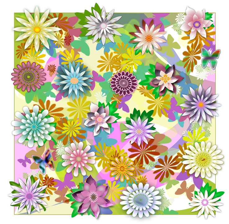 Illustration, Pattern, Abstract, Flowers, Graphic