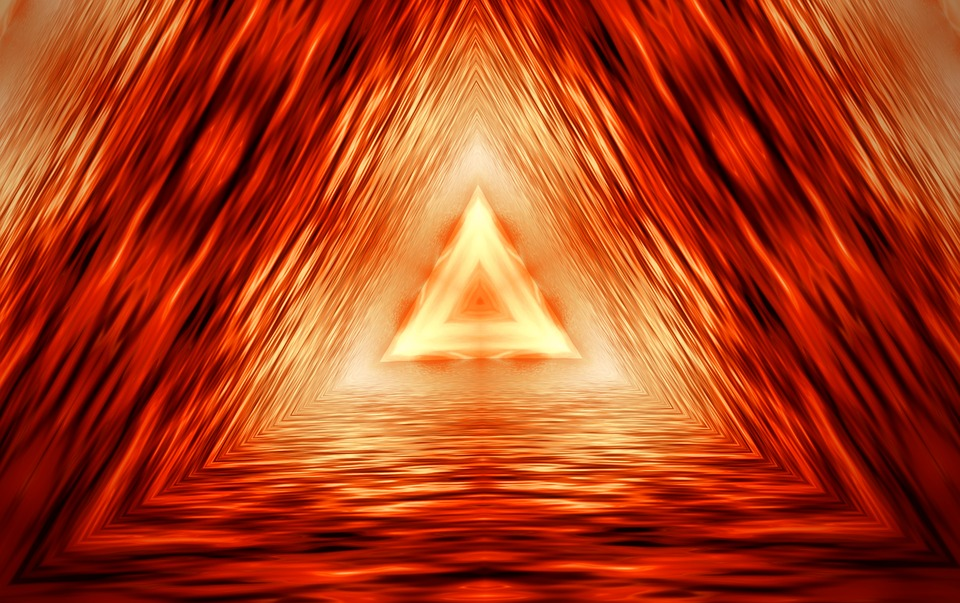 Pattern, Background, Abstract, Orange, Triangle, Form
