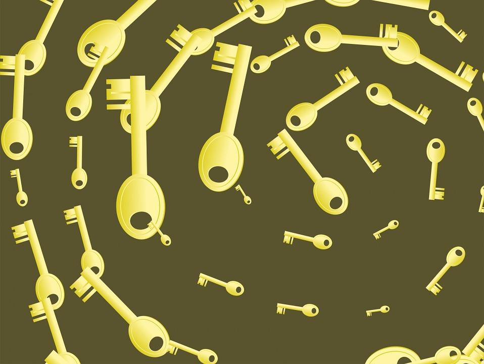 Abstract, Pattern, Key, Keys, Objects, Tools, Open