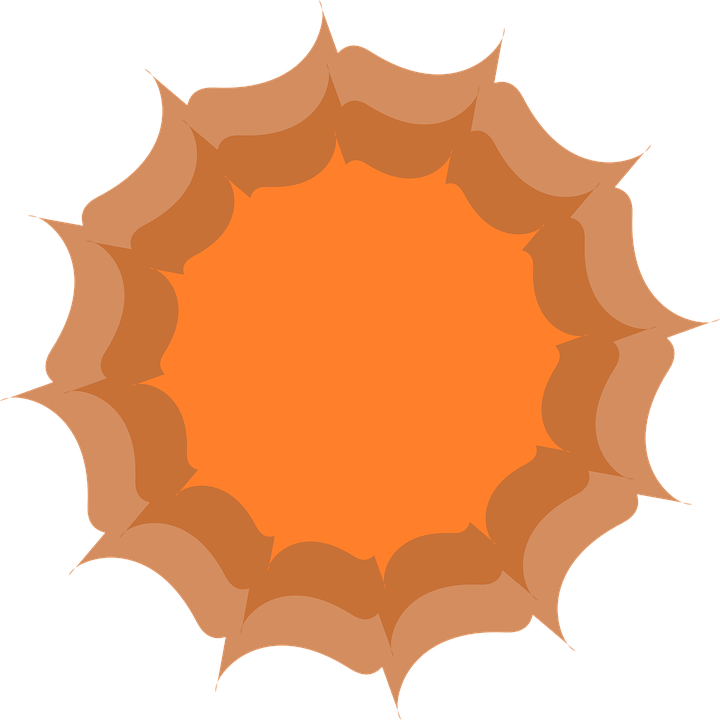 Abstract, Flower, Orange, Orange Abstract