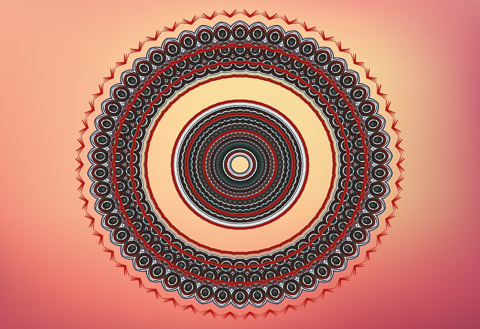 Ornamental, Shape, Concentric, Round, Abstract, Art