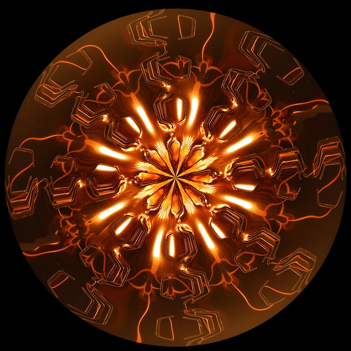 Copper Color, Light, Lichtspiel, Abstract Pattern