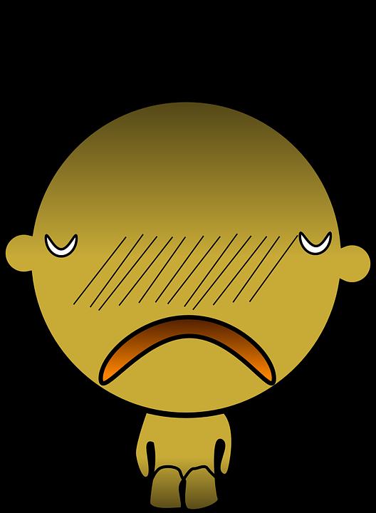 Character, Man, Figure, Abstract, Yellow, Sad, Unhappy