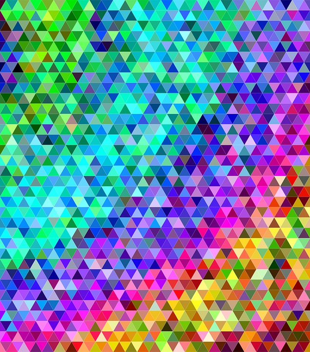Triangle, Tile, Mosaic, Abstract, Colorful