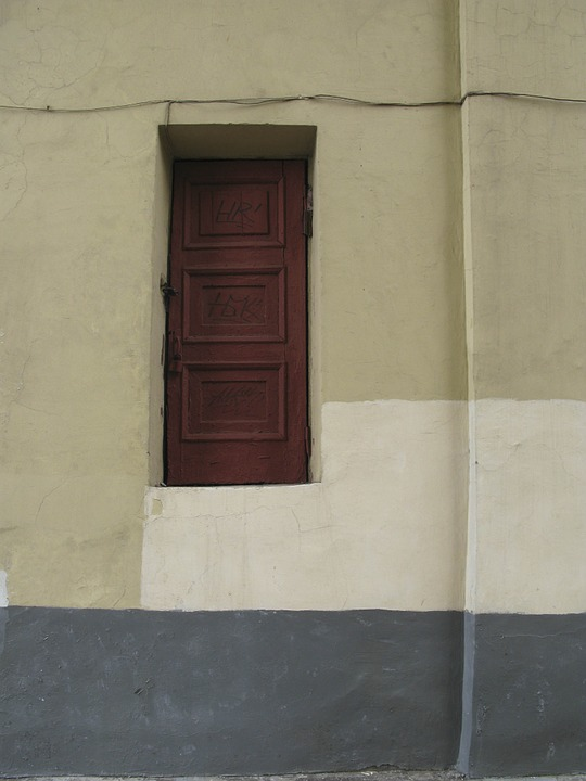 Door, Why, Art, To The Ground About 2 Meters, Abstract
