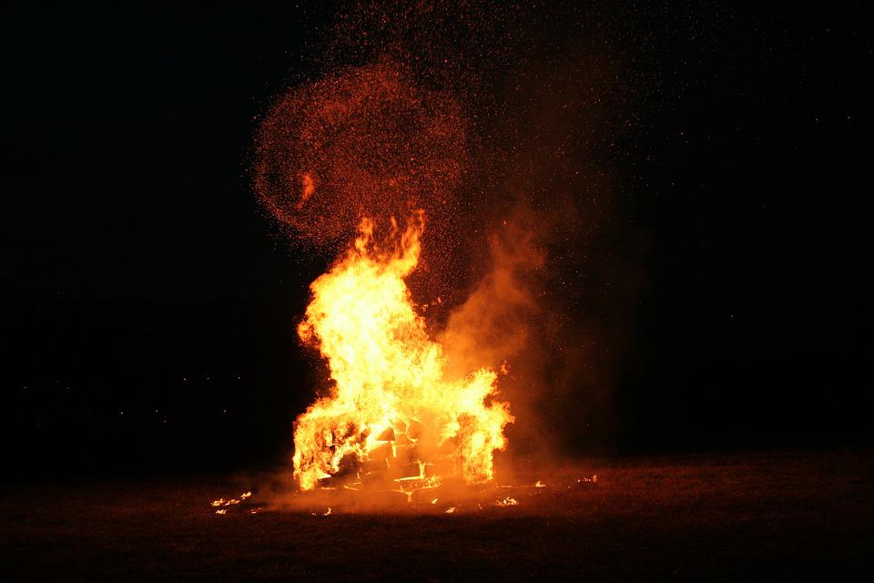 Fire, Background, Abstraction, Focal Point
