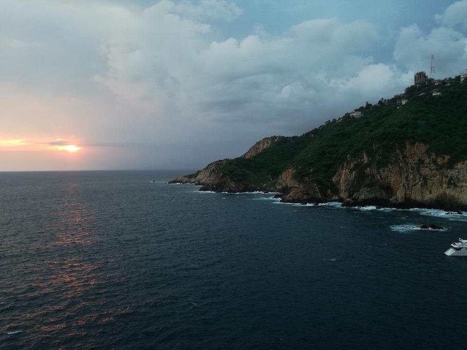 Ravine, Acapulco, Sky, Clouds, Blue, Acapulquito