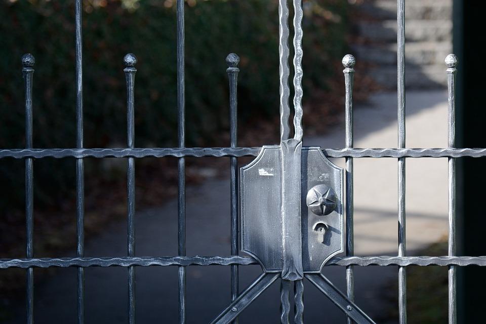 Goal, Wrought Iron, Input, Metal, Grid, Access