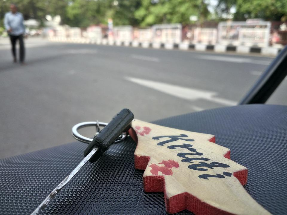 Key, Road, Nature, Access, Black, Keychain