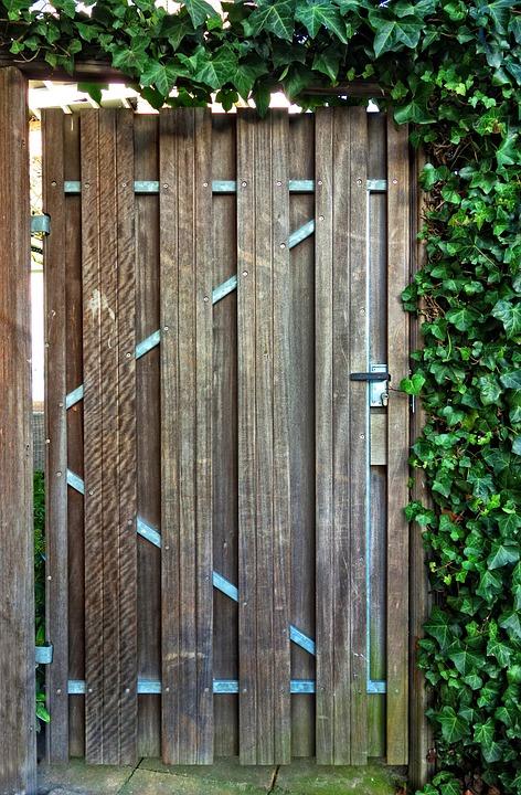 Wooden Door, Garden Door, Door, Plank, Access, Entrance