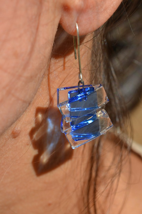 Glass, Earrings, Jewelry, Accessories, Brightness