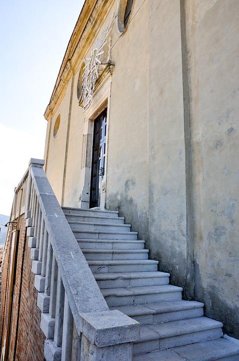 Accettura Mt, Scale, Church, St Julian Lucania Italy