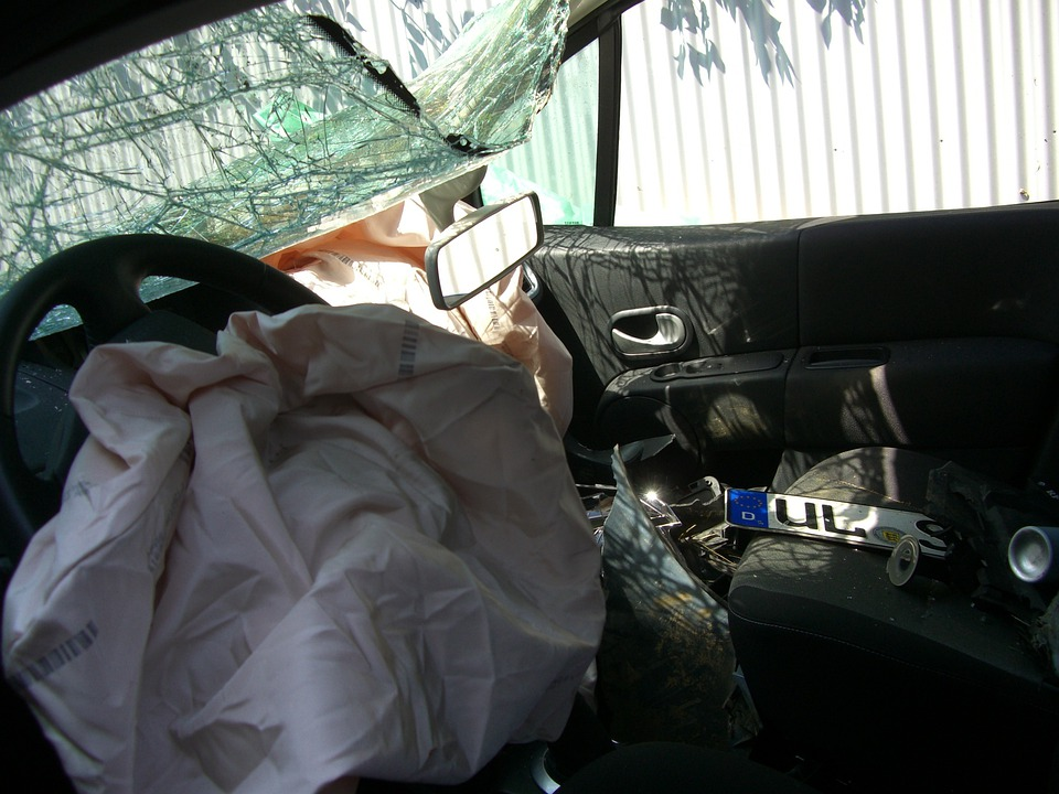 Auto, Accident, Driver's Seat, Steering Wheel, Airbag
