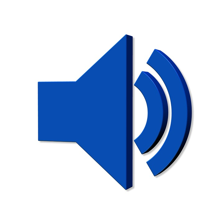 According To, Sound, Speakers, Volume, Icon, Blue