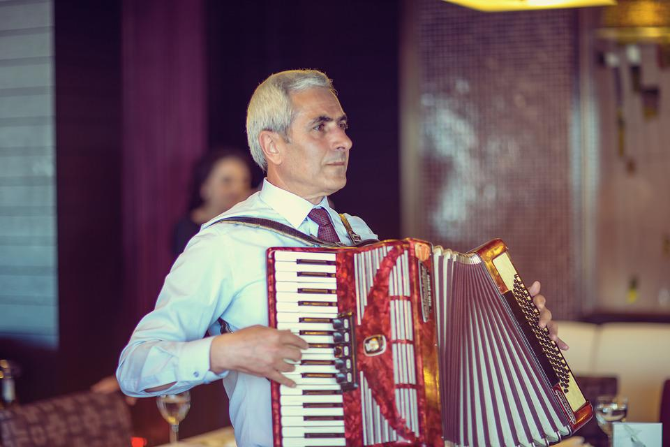 People, Accordionist, Accordion