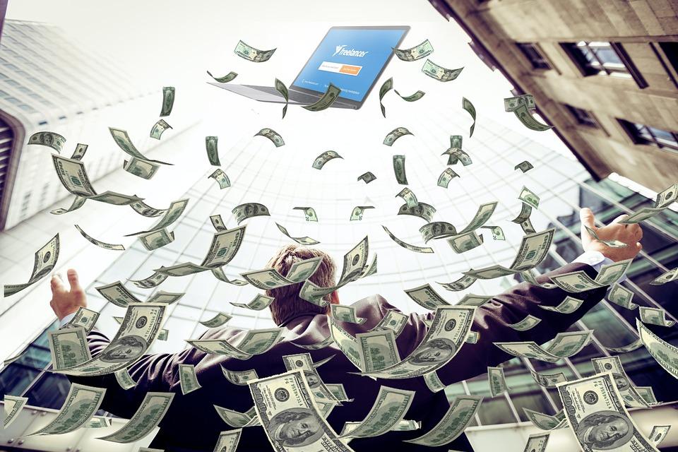 Motivation, Business, Money Rain, Achievement, Positive