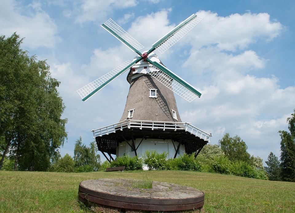 Windmill, Mill, Lower Saxony, Wing, Wind Power, Achim