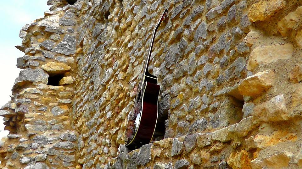 Guitar, Wall, Instrument, Acoustic Guitar