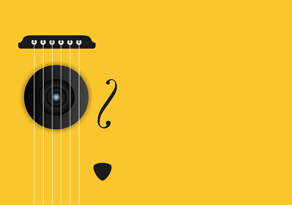 Music, Guitar, Instrument, Musical, Acoustic, Yellow