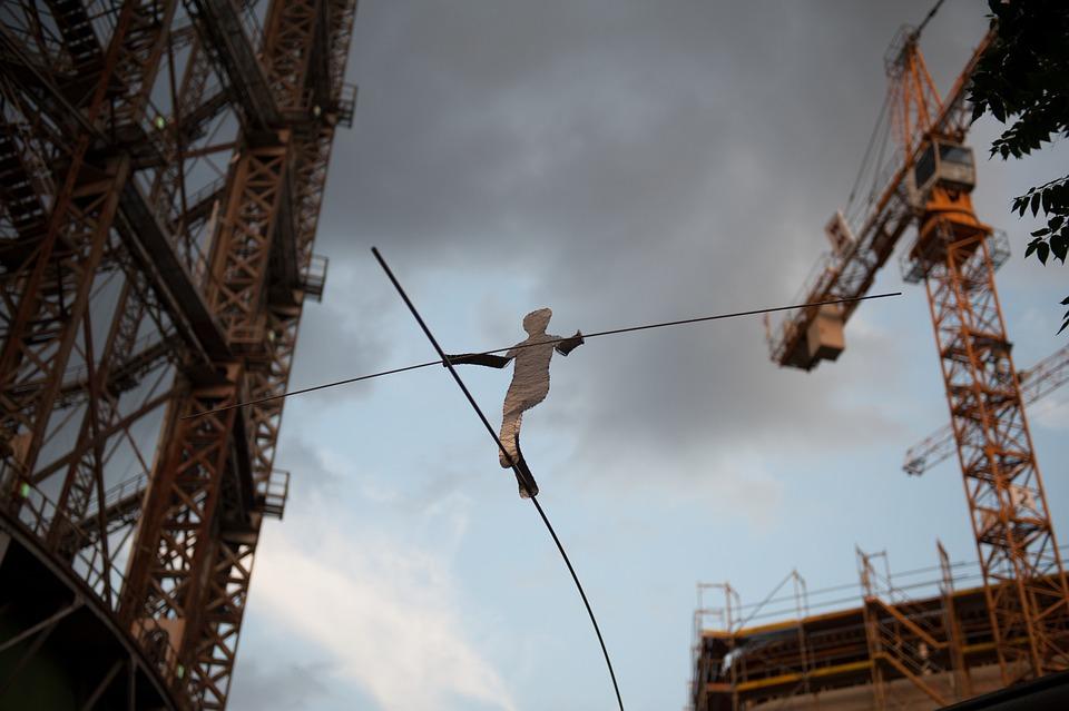 Gasometer, Berlin, Acrobat, Sculpture, Scrap Art, Iron