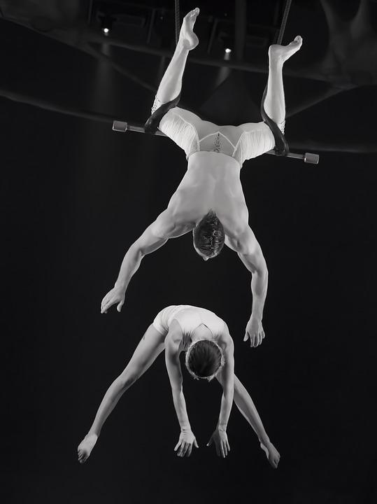 Trapeze, Circus, Man, Men, Acrobat, Gymnastics, Swing