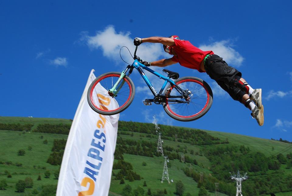 Mountain Biking, Jump, Acrobatics