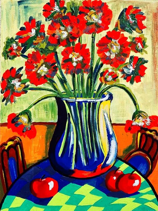 Painting, Acrylic Paint, Canvas, Brush Strokes, Artist