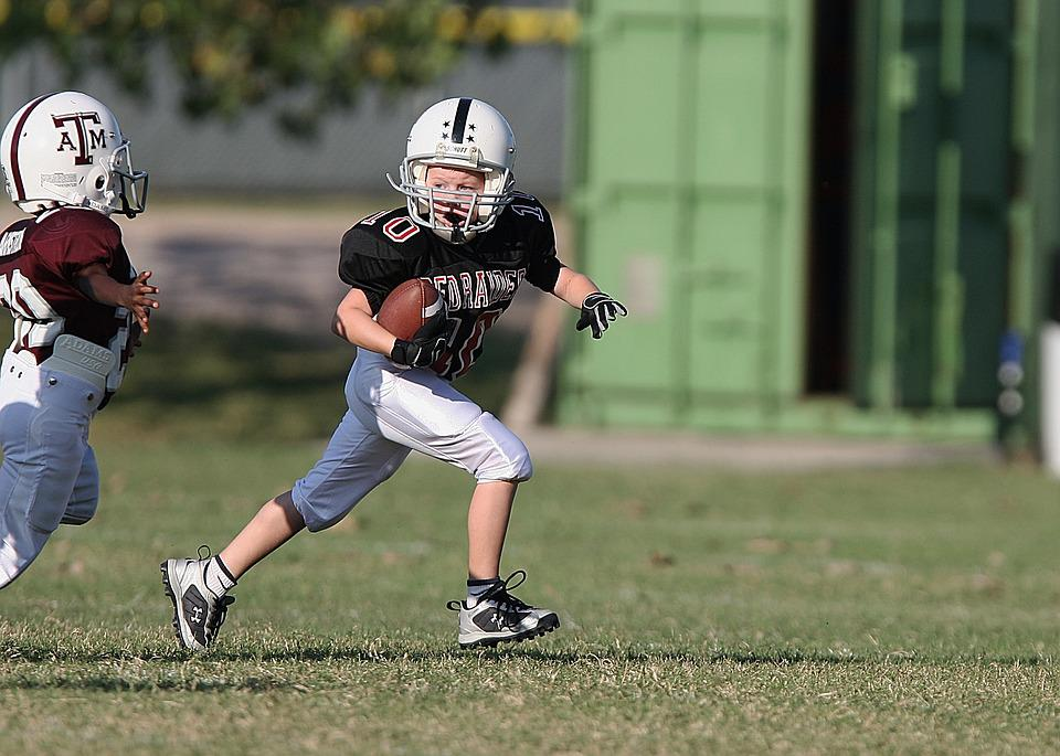 Football, Youth League, Action, American, Player