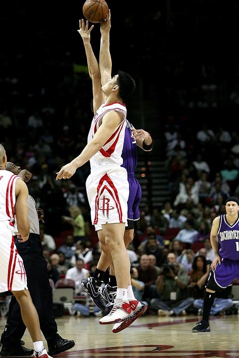 Basketball, Professional, Action, Jump Ball, Center