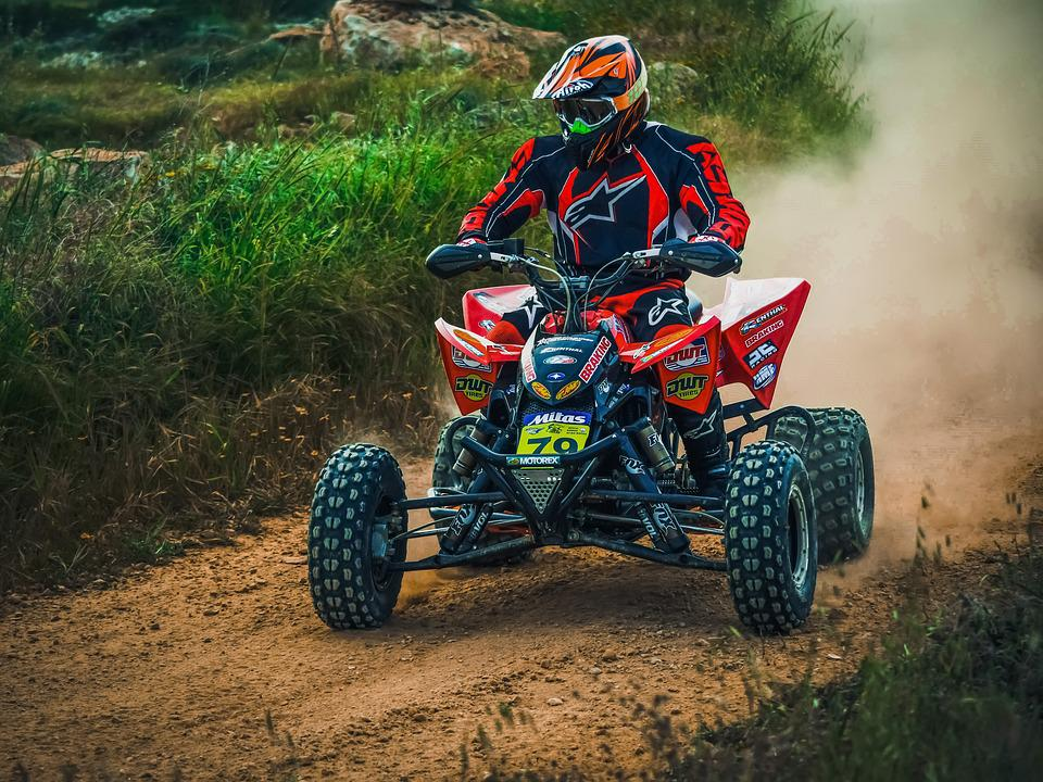 Soil, Vehicle, Competition, Hurry, Action, Quad, Bike