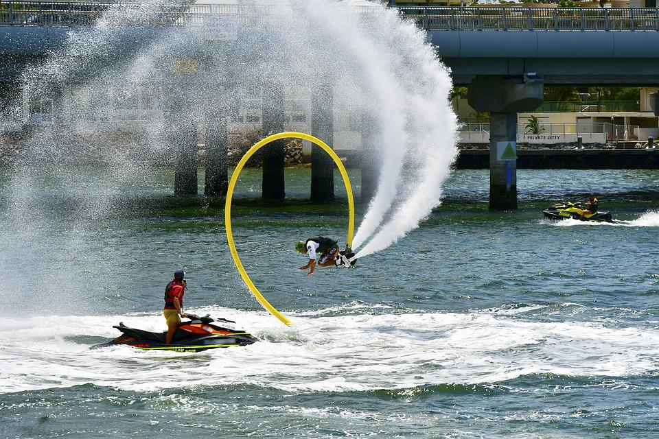 Water, Spray, Surf, Action, Sport, Water Jets