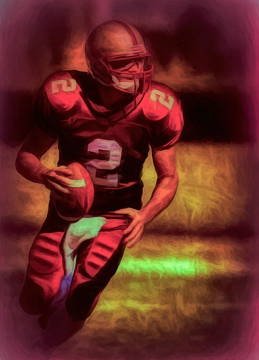 Art, Photo Art, Painting, Sports, Action, Quarterback